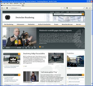 Website www.bundestag.de
