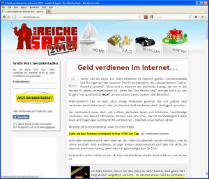 Website Der reiche Sack