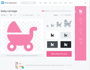 Font Awesome Baby Carriage Iconseite
